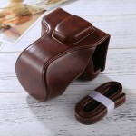 Full Body Camera PU Leather Case Bag with Strap for FUJIFILM XT10 / XT20 (16-50mm / 18-55mm Lens)(Coffee)