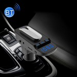 ER9 2 in 1 Hands-Free Calling Car Kit Wireless Bluetooth Headset Dual USB Charger FM Transmitter MP3 Music Player