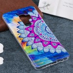 For Samsung Galaxy S9+ Noctilucent Half Flower Pattern TPU Soft Back Case Protective Cover, Small Quantity Recommended Before Sa