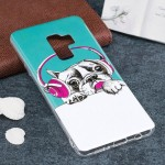For Samsung Galaxy S9+ Noctilucent Headphone Dog Pattern TPU Soft Back Case Protective Cover, Small Quantity Recommended Before