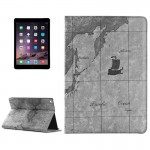 Retro World Map Pattern Leather Case with Holder & Card Slots & Wallet for iPad Air 2, Random Delivery(Grey)