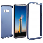 For Samsung Galaxy S8 + / G955 360 Degrees Full Coverage Detachable Protective Cover Case (Navy Blue)