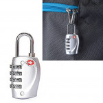 TSA Combination 4 Digits Luggage Travel Suitcase Security Padlock Lock Cable Lock Customs TSA Luggage Metal Lock Password Lock A