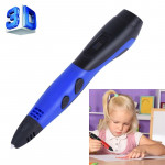 Gen 6th ABS / PLA Filament Kids DIY Drawing 3D Printing Pen with LCD Display(Blue+Black)
