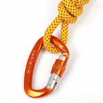 Professional Climbing D-shaped Master Lock Carabiner Safety Buckle Outdoor Climbing Equipment Supplies (Orange)