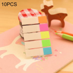 10 PCS Half Color Type Creative Fluorescence Classification Indexes Paste Sticks PET Bookmarks Sticky Note Stationeries