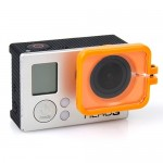 TMC Lens Anti-exposure Protective Hood for GoPro Hero 4 / 3+(Orange)