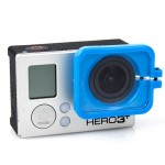 TMC Lens Anti-exposure Protective Hood for GoPro Hero 4 / 3+(Blue)