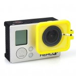 TMC Lens Anti-exposure Protective Hood for GoPro Hero 4 / 3+(Yellow)