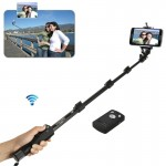 YUNTENG 1288, 3 in 1 Kit Monopod + Phone Holder Clip + Bluetooth Remote Shutter for iPhone 6 & 6 Plus / iPhone 5 & 5S & 5C, Max
