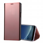 For Samsung Galaxy S9+ PU Electroplating Mirror Horizontal Flip Leather Case with Holder(Rose Gold)