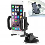 Universal Car Windshield Suction Mount Bracket Holder for iPhone 6 & 6 Plus / iPhone 5 & 5S / PDA / GPS / MP4, Adjustable Width: