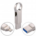 RQW-10D 2 in 1 USB 2.0 & 8 Pin 16GB Flash Drive, for iPhone & iPad & iPod & Most Android Smartphones & PC Computer