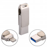 RQW-10G 2 in 1 USB 2.0 & 8 Pin 16GB Flash Drive, for iPhone & iPad & iPod & Most Android Smartphones & PC Computer