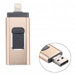 RQW-01B 3 in 1 USB 2.0 & 8 Pin & Micro USB 16GB Flash Drive, for iPhone & iPad & iPod & Most Android Smartphones & PC Computer(G