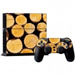 Wood Pattern Decal Stickers for PS4 Game Console