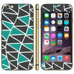 Triangle Pattern Mobile Phone Decal Stickers for iPhone 6 Plus & 6S Plus