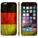 Germany Flag Pattern Mobile Phone Decal Stickers for iPhone 6 Plus & 6S Plus