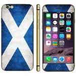 Scottish Flag Pattern Mobile Phone Decal Stickers for iPhone 6 Plus & 6S Plus