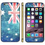 Australian Flag Pattern Mobile Phone Decal Stickers for iPhone 6 Plus & 6S Plus