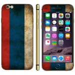 Russian Flag Pattern Mobile Phone Decal Stickers for iPhone 6 Plus & 6S Plus