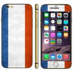French Flag Pattern Mobile Phone Decal Stickers for iPhone 6 Plus & 6S Plus