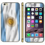 Argentine Flag Pattern Mobile Phone Decal Stickers for iPhone 6 Plus & 6S Plus