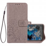 For Samsung Galaxy S9+ Lucky Clover Pressed Flowers Pattern Horizontal Flip Leather Case with Holder & Card Slots & Wallet & Han