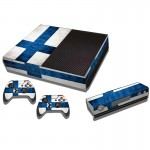 Finnish Flag Pattern Decal Stickers for Xbox One Game Console