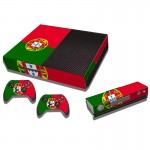 Portuguese Flag Pattern Decal Stickers for Xbox One Game Console
