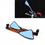 2 PCS Motorcycle Parts CNC Technology Aluminum Alloy Rearview Mirror Side Mirror (Orange)
