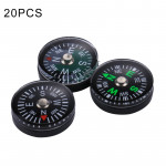 20 PCS 20mm Outdoor Sports Camping Hiking Pointer Guider Plastic Compass Hiker Navigation, Random Color Delivery