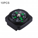 10 PCS 20mm Outdoor Sports Camping Hiking Pointer Guider Plastic Compass Hiker Navigation, Random Color Delivery