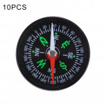 10 PCS 40mm Outdoor Sports Camping Hiking Pointer Guider Plastic Compass Hiker Navigation, Random Color Delivery