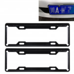 2 PCS Carbon Lead License Plate Frame Simple and Beautiful Car License Plate Frame Holder Universal License Plate Holder(Black)