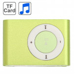 TF (Micro SD) Card Slot MP3 Player with Metal Clip (Light Green)
