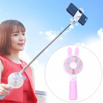 Portable Lovely Style Mini USB Charging Handheld Small Fan with Selfie Stick (Pink)