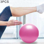 3 PCS Mini Yoga Pilates Ball Explosion-proof PVC Ball Balanced Fitness Gymnastic Exercise Training with Straw, Diameter: 25cm(Pi