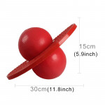 Bouncing Ball Explosion-proof Balance Outdoor Inflatable Exercise Jumping Balls Toys (Red)