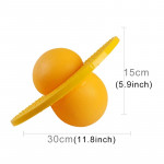 Bouncing Ball Explosion-proof Balance Outdoor Inflatable Exercise Jumping Balls Toys (Yellow)