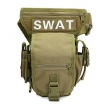 Swat Military Waist Pack Weapons Tactics Outdoor Sport Ride Leg Bag / Special Waterproof Drop Utility Thigh Pouch Bag(Khaki)