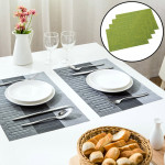5 PCS Simple Knitting Style Waterproof Anti-skid Insulation Dining Table Mat, Size: 43.5*30cm