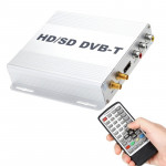 DVB-T999 Car Mobile DVB-T Digital TV Receiver Box with Remote Control (Silver)