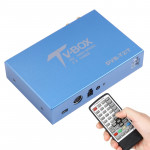 BLH-T116B HD 2 x Turner H.265 Car Mobile DVB-T2/T Digital TV Receiver with Remote Control (Blue)