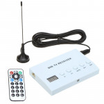 Car Digital TV Simulation Receiver DVD Monitor Analog TV Tuner Box with Remote Control(White)
