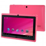 Tablette Tactile rose Tactile, 7 pouces, 512 Mo + 8 Go, Android 4.0, Allwinner A33 Quad Core 1,5 GHz - Wewoo