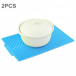 2 PCS Multi-function Silicone Foldable Water Filter Mat Drain Insulation Pad (Blue)