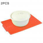2 PCS Multi-function Silicone Foldable Water Filter Mat Drain Insulation Pad (Red)