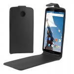 Vertical Flip Magnetic Button PU Leather Case for Google Nexus 6