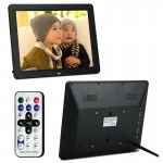 12.0 Inch LED Display Multi-media Digital Photo Frame with Holder / Music & Movie Player / Remote Control Function, Support USB